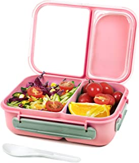 Shopwithgreen Bento Lunch Box Containers for Kids, Adult, Food Meal Prep Containers Leak-proof with 2 Compartments Divider...