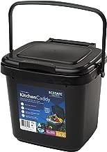 EcoSafe Kitchen Caddy KCBLK Food Waste Bin, Plastic, 2-Gallon, Black