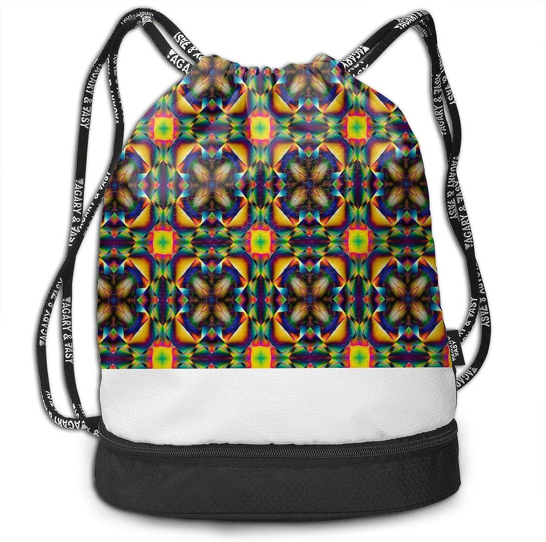 85ea3c7a5cdb Gymsack Square Geometry Print Drawstring Bags Simple Shoulder Bags ...