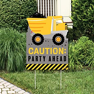 Big Dot of Happiness Dig It - Construction Party Zone - Party Decorations - Baby Shower or Birthday Party Welcome Yard Sign