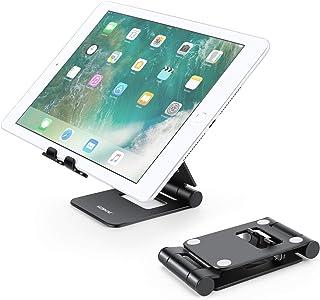 Adjustable Tablet Stand, YOSHINE Tablet Holder for Desk, Portable Phone Stands Tablet Mount, Foldable Aluminum Stand Charg...