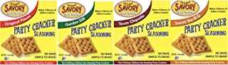 Savory Saltine Seasoning 1.4 Ounce Sampler Set 4 Flavors 4 Pack