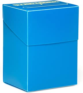 Stratagem The Big Box Card Deck Box with Divider, Blue - Oversized TCG Box - Pokemon, Yugioh!, Magic of The Gathering, Baseball Cards - Trading Card Games & Sleeved or Unsleeved Cards