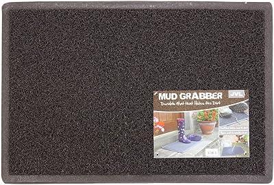 JVL Mud Grabber Spaghetti Entrance Door Mat, PVC, Brown, 40 x 60 cm
