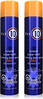 It's a 10 Miracle Super Hold Finishing Spray Plus Keratin, 10 oz (Pack of 2)