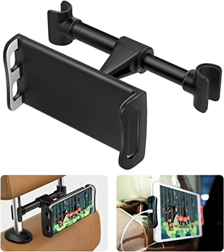 """MoKo Headrest Phone/Tablet Car Mount, Adjustable Tablet Holder for 4-11"""" Devices, Fit with 12 Pro Max / 12 Mini/ 11 P..."""