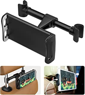 """MoKo Headrest Phone/Tablet Car Mount, Adjustable Tablet Holder for 4-11"""" Devices, Fit with iPhone 11 Pro Max/11 Pro/11, iP..."""
