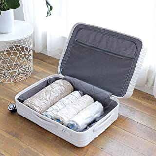 12 Travel Space Saver Bags, Hand Roll-Up Compression Bag, Travel Storage Bag No Vacuum Pump Needed, Perfect for Travel,Home Storage,Luggage - Transparent