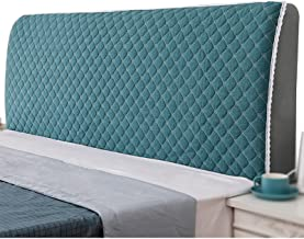 All-Inclusive Bed Head Cover Solid Bed Dust Protection Headboards Cover for Home Hotel (Color : Blue, Size : 120cm)