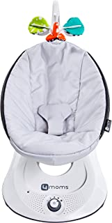 4moms rockaRoo Baby Swing | Compact Baby Rocker with Front to Back Gliding Motion | Smooth, Nylon Fabric | Grey Classic