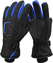Keegud Winter Touch Screen Gloves for Men and Women Waterproof Windproof Non-Slip Gloves for Cycling Running Walking Riding Working Black/&Yellow, L