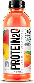 Protein2o 15g Whey Protein Infused Water, Peach Mango, 16.9 oz Bottle (Pack Of 12)