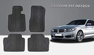 HD-Mart Car Floor Mat Rubber for BMW 3/4 Series F30 F31 F32 F33 F36 2012-2013-2014-2015-2016-2017-2018,Custom Fit All Weather Heavy Duty & Odorless