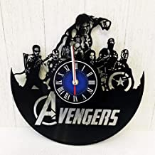 MARVEL COMICS AVENGERS HULK INFINITY WAR GIFT Wall Clock made from 12 inches / 30 cm Vintage VINYL RECORD | Vision GIFT FOR MEN BOYS HUSBAND | Iron MAN INFINITY WAR | AVENGERS INFINITY WAR MERCHANDISE