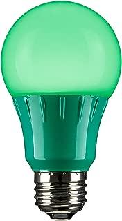 Sunlite 80146 Green LED A19 3 Watt Medium Base 120 Volt UL Listed LED Light Bulb, last 25,000 Hours