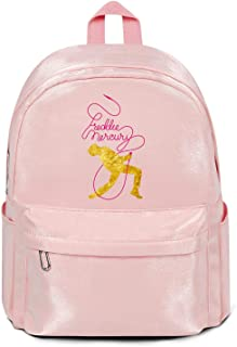 Womens Girl Boys College Bookbag Fashion Nylon Packable School Backpack Freddie-Mercury-Poster-small- Bag Purse Pink