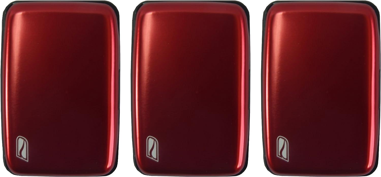 Ducti RFID Blocking Aluminum Credit Card Case (Red - 3 Pack)