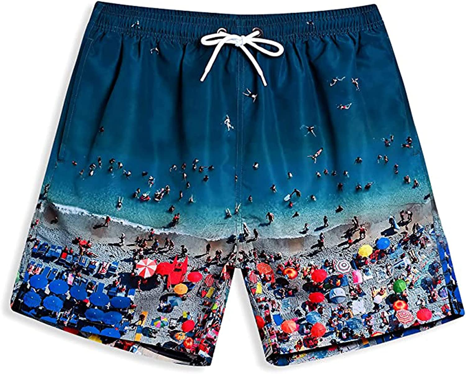 Yhjh Men's Pattern Easy-to-use Casual Slim Board Print Pa Beach Max 81% OFF Trunks Sport