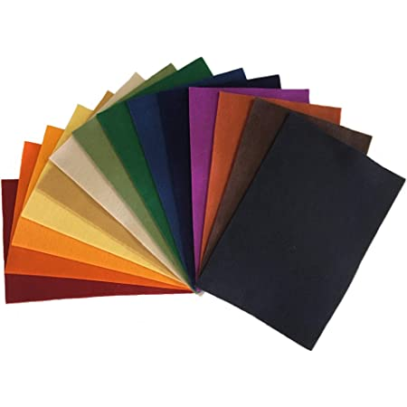 WOOL MIX FELT ARTS DECORATION CRAFT FABRIC MATERIAL ASSORTED COLOURS 1 m LENGTH