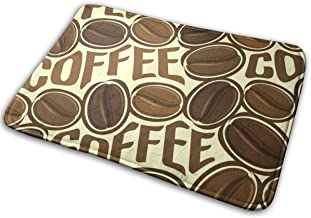 Decorative Doormat Home Decor Coffee Beans. Welcome Indoor Outdoor Entrance Bathroom Floor Mats Non Slip Washable Mat, 23....