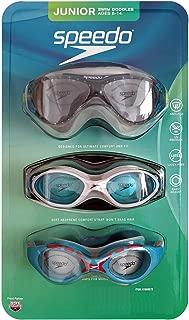 Speedo Junior Swim Goggles 3-Pack, Multi-Color & Shape - Variety Pack