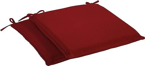 Sunbrella Gateway Mist Dining Seat Cushion with ties Chair Cushion Sunbrella Cushion Chair Pad Seat Pad 17.25x17.75x3