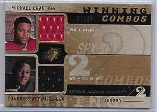 2009 SPX Football Crabtree-Heyward-Bey Winning Combos Dual Jersey Card # 84/99