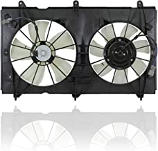 Dual Radiator and Condenser Fan Assembly - Cooling Direct For/Fit HO3115121 03-07 Honda Accord Sedan Coupe L4