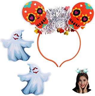 Jeicy Replaceable LED Headband Light Up Headband for Halloween Party Decorations Hair Accessories