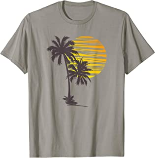 Sunset Beach Palm Tree TShirt Funny Summer Vacation Holiday T-Shirt