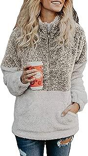 Womens Sweatshirts Fall Fleece Jackets Sherpa Pullover Winter Coats with Zipper