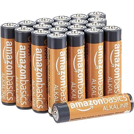 AmazonBasics - Pilas alcalinas AAA de 1,5 voltios, gama Performance, paquete de 20 (el aspecto puede variar)