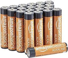 Amazon Basics - Pilas alcalinas AAA de 1,5 voltios, gama Performance, paquete de 20 (el aspecto puede variar)