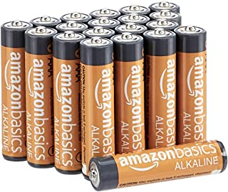 AmazonBasics 20 Pack AAA High-Performance Alkaline Batteries, 10-Year Shelf Life, Easy to Open...