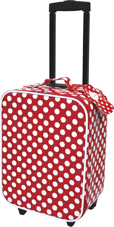 JABA Dabado Trolley Polish Red with White Spots