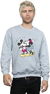 Disney Men's Mickey and Minnie Mouse Kiss Sweatshirt