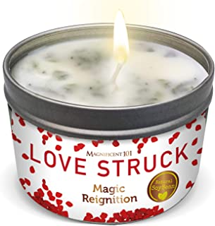 Magnificent Love Struck Aromatherapy Candle for Couples, Love Attraction, Romance, Relationships - Rose, Lavender, Lilac S...