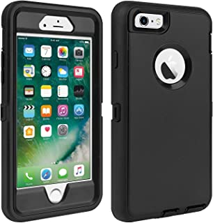 iPhone 6/6S Case Shockproof High Impact Tough Rubber Rugged Hybrid Case Silicone Triple Protective Anti-Shock Shatter-Resistant Phone Case for iPhone 6/6S 4.7
