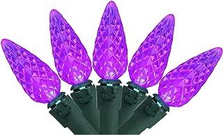 Northlight Set of 70 Purple LED C6 Christmas Lights – Green Wire