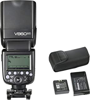 Godox V860II-F TLL Cámara Flash, Flash Speedlite, Flash Inalámbrico Fujifilm, Flash Electrónico TTL para Cámara Fujifilm D...