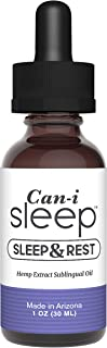 Can-i-Sleep Sublingual Oil for Improving Sleep Naturally | 1oz Dropper with 750mg of Hemp Extract | Made in USA