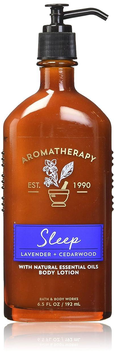 透ける振るどんよりした【Bath&Body Works/バス&ボディワークス】 ボディローション アロマセラピー スリープ ラベンダーシダーウッド Body Lotion Aromatherapy Sleep Lavender Cedarwood 6.5 fl oz / 192 mL [並行輸入品]