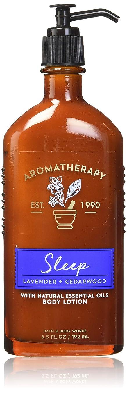 悲観的環境ハーブ【Bath&Body Works/バス&ボディワークス】 ボディローション アロマセラピー スリープ ラベンダーシダーウッド Body Lotion Aromatherapy Sleep Lavender Cedarwood 6.5 fl oz / 192 mL [並行輸入品]