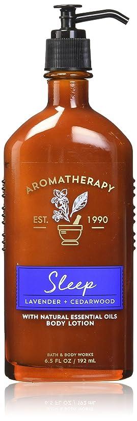 皮肉な側投げる【Bath&Body Works/バス&ボディワークス】 ボディローション アロマセラピー スリープ ラベンダーシダーウッド Body Lotion Aromatherapy Sleep Lavender Cedarwood 6.5 fl oz / 192 mL [並行輸入品]
