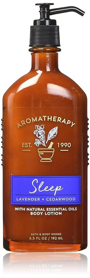 適格適合しました航空会社【Bath&Body Works/バス&ボディワークス】 ボディローション アロマセラピー スリープ ラベンダーシダーウッド Body Lotion Aromatherapy Sleep Lavender Cedarwood 6.5 fl oz / 192 mL [並行輸入品]