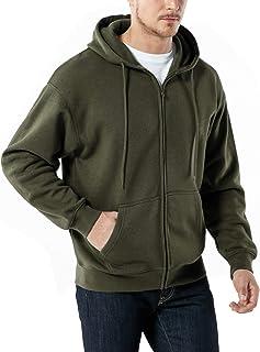 TSLA Men's Active Casual Sweatshirt Performance Cotton Mix Hoodie (Zip/Pullover/Round Neck 3Type)