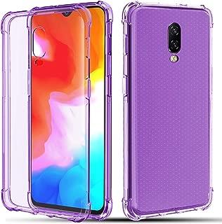 CaseBing for OnePlus 6T Case,[Shock Absorption][Reinforced Corner] Anti-Scratch Bumper Flexible Full-Body Soft Skin Silicone Premium Protective Clear Case Cover (Purple)