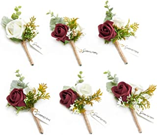 Best white and burgundy boutonniere Reviews