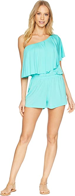 Sunshine One Shoulder Romper Cover-Up