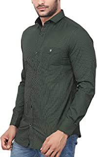 Rapphael Checked Long Sleeve Shirt for Men - Green